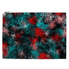 Squiggly Abstract D Cosmetic Bag (xxl)  by MoreColorsinLife