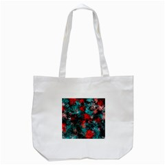 Squiggly Abstract D Tote Bag (white) by MoreColorsinLife