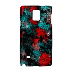 Squiggly Abstract D Samsung Galaxy Note 4 Hardshell Case by MoreColorsinLife