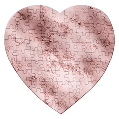 Wonderful Marbled Structure E Jigsaw Puzzle (heart) by MoreColorsinLife