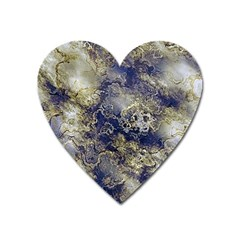 Wonderful Marbled Structure D Heart Magnet by MoreColorsinLife