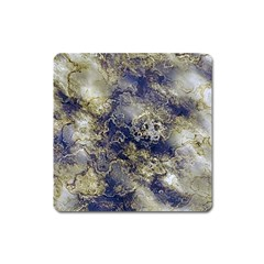 Wonderful Marbled Structure D Square Magnet by MoreColorsinLife