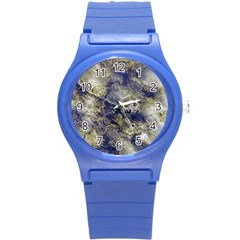 Wonderful Marbled Structure D Round Plastic Sport Watch (s) by MoreColorsinLife