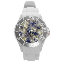 Wonderful Marbled Structure D Round Plastic Sport Watch (l) by MoreColorsinLife