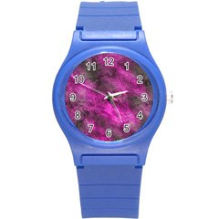 Wonderful Marbled Structure C Round Plastic Sport Watch (s) by MoreColorsinLife