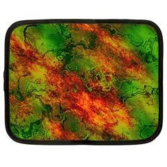 Wonderful Marbled Structure F Netbook Case (xxl)  by MoreColorsinLife