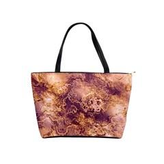 Wonderful Marbled Structure I Shoulder Handbags by MoreColorsinLife
