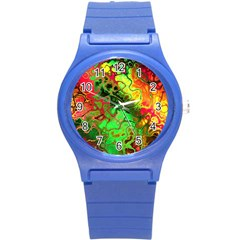 Awesome Fractal 35i Round Plastic Sport Watch (s) by MoreColorsinLife