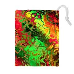 Awesome Fractal 35i Drawstring Pouches (extra Large) by MoreColorsinLife
