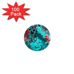 Awesome Fractal 35g 1  Mini Buttons (100 Pack)  by MoreColorsinLife