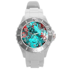 Awesome Fractal 35g Round Plastic Sport Watch (l) by MoreColorsinLife
