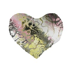 Awesome Fractal 35h Standard 16  Premium Heart Shape Cushions by MoreColorsinLife