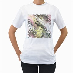 Awesome Fractal 35h Women s T Shirt (white)  by MoreColorsinLife