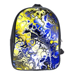 Awesome Fractal 35a School Bag (large) by MoreColorsinLife