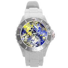 Awesome Fractal 35a Round Plastic Sport Watch (l) by MoreColorsinLife