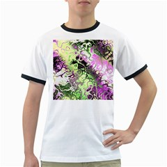 Awesome Fractal 35d Ringer T Shirts by MoreColorsinLife