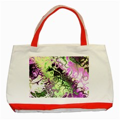 Awesome Fractal 35d Classic Tote Bag (red) by MoreColorsinLife