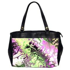 Awesome Fractal 35d Office Handbags (2 Sides)  by MoreColorsinLife
