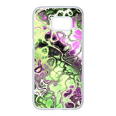Awesome Fractal 35d Samsung Galaxy S7 Edge White Seamless Case by MoreColorsinLife