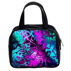 Awesome Fractal 35b Classic Handbags (2 Sides) by MoreColorsinLife