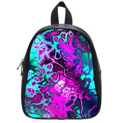 Awesome Fractal 35b School Bag (small) by MoreColorsinLife