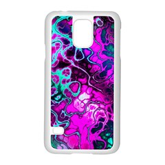 Awesome Fractal 35b Samsung Galaxy S5 Case (white) by MoreColorsinLife