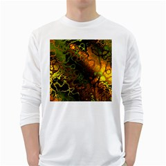 Awesome Fractal 35e White Long Sleeve T Shirts by MoreColorsinLife