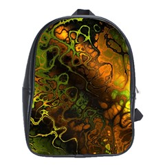 Awesome Fractal 35e School Bag (xl) by MoreColorsinLife