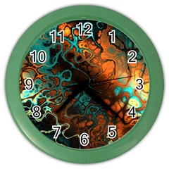 Awesome Fractal 35f Color Wall Clocks by MoreColorsinLife