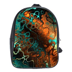 Awesome Fractal 35f School Bag (large) by MoreColorsinLife