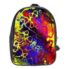 Awesome Fractal 35c School Bag (large) by MoreColorsinLife
