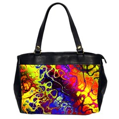 Awesome Fractal 35c Office Handbags (2 Sides)  by MoreColorsinLife