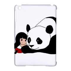 Girl And Panda Apple Ipad Mini Hardshell Case (compatible With Smart Cover) by Valentinaart