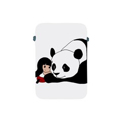 Girl And Panda Apple Ipad Mini Protective Soft Cases by Valentinaart