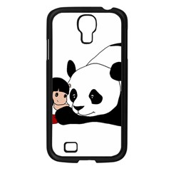 Girl And Panda Samsung Galaxy S4 I9500/ I9505 Case (black) by Valentinaart