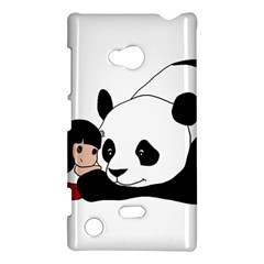 Girl And Panda Nokia Lumia 720 by Valentinaart