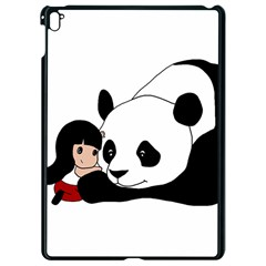 Girl And Panda Apple Ipad Pro 9 7   Black Seamless Case by Valentinaart