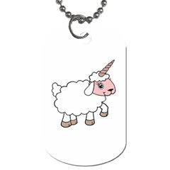 Unicorn Sheep Dog Tag (two Sides) by Valentinaart
