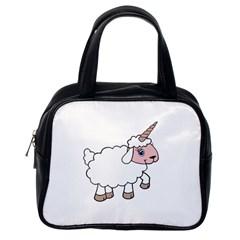 Unicorn Sheep Classic Handbags (one Side) by Valentinaart