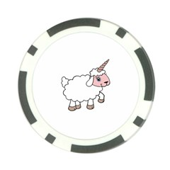 Unicorn Sheep Poker Chip Card Guard (10 Pack) by Valentinaart