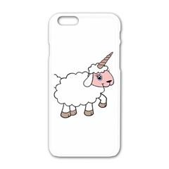 Unicorn Sheep Apple Iphone 6/6s White Enamel Case by Valentinaart