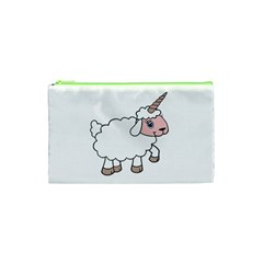 Unicorn Sheep Cosmetic Bag (xs) by Valentinaart