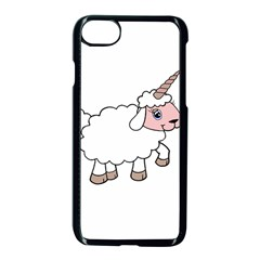 Unicorn Sheep Apple Iphone 7 Seamless Case (black) by Valentinaart