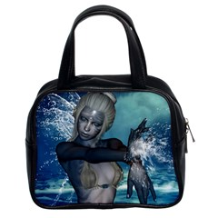 The Wonderful Water Fairy With Water Wings Classic Handbags (2 Sides) by FantasyWorld7