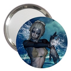 The Wonderful Water Fairy With Water Wings 3  Handbag Mirrors by FantasyWorld7