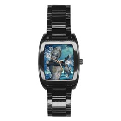 The Wonderful Water Fairy With Water Wings Stainless Steel Barrel Watch by FantasyWorld7