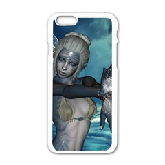 The Wonderful Water Fairy With Water Wings Apple Iphone 6/6s White Enamel Case by FantasyWorld7