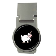 Unicorn Sheep Money Clips (round)  by Valentinaart