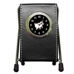 Unicorn Sheep Pen Holder Desk Clocks by Valentinaart