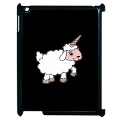 Unicorn Sheep Apple Ipad 2 Case (black) by Valentinaart